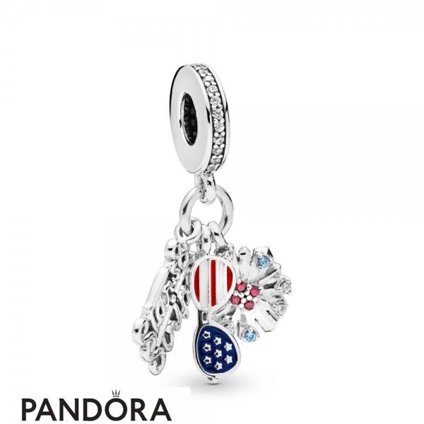 Women's Pandora American Icons Dangle Charm Jewelry