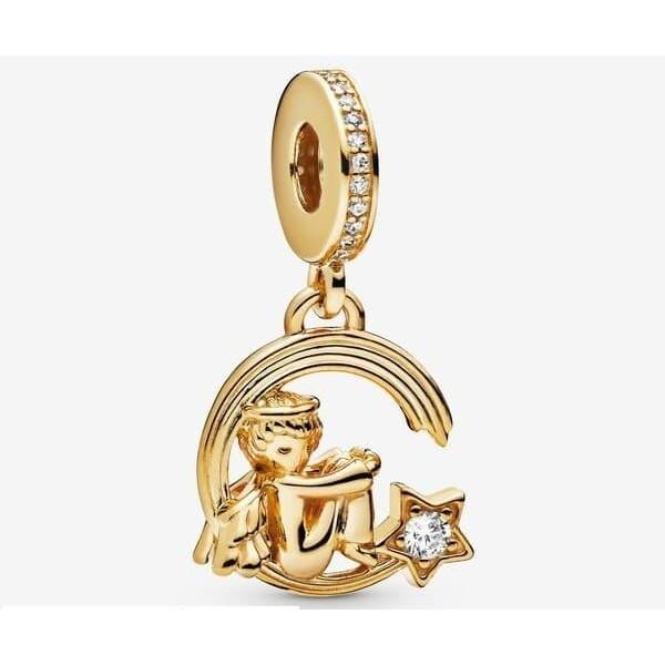 Women's Pandora Angel And Shooting Star Dangle Charm Jewelry