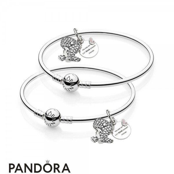 Women's Pandora Best Friends Pave Dinosaur Bangle Set Jewelry