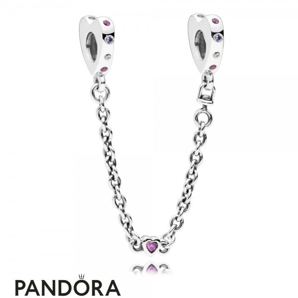 Women's Pandora Bright Hearts Safety Chain Jewelry