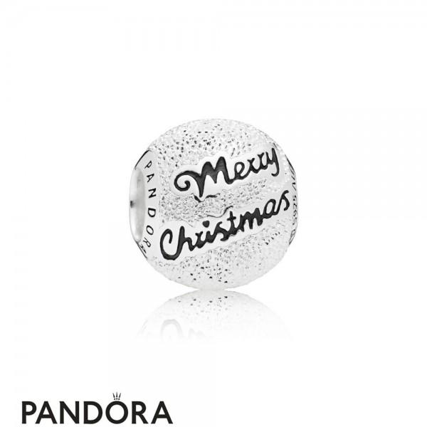 Women's Pandora Charm De Noel 2019 Merry Christmas In Silver Jewelry