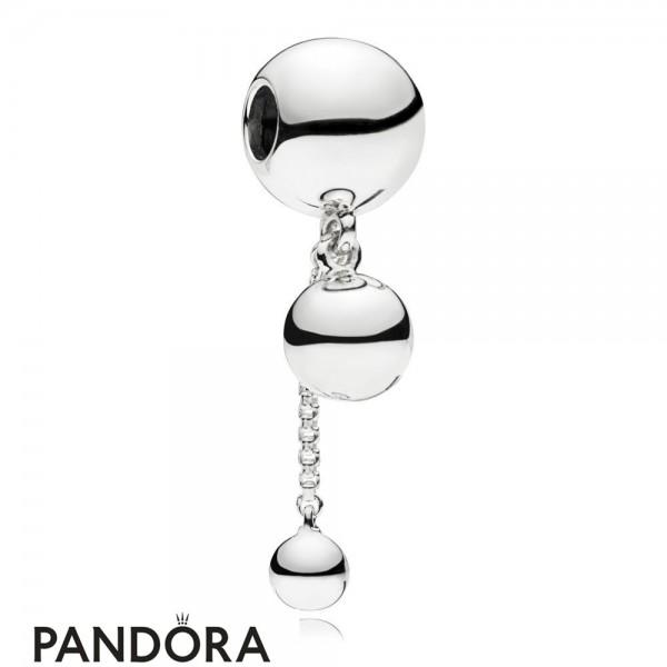 Women's Pandora Charm Pendant Fil De Perles In Silver Jewelry
