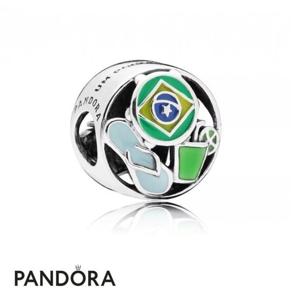 Women's Pandora Charm Um Pouquinho De Brasil Jewelry