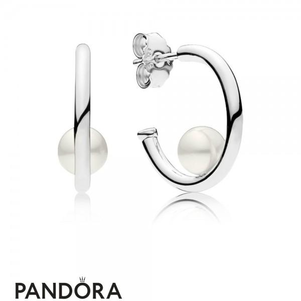 Women's Pandora Contemporary Pearl Earrings Jewelry