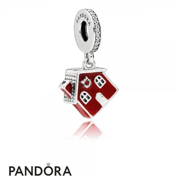 Women's Pandora Cosy Christmas House Hanging Charm Jewelry