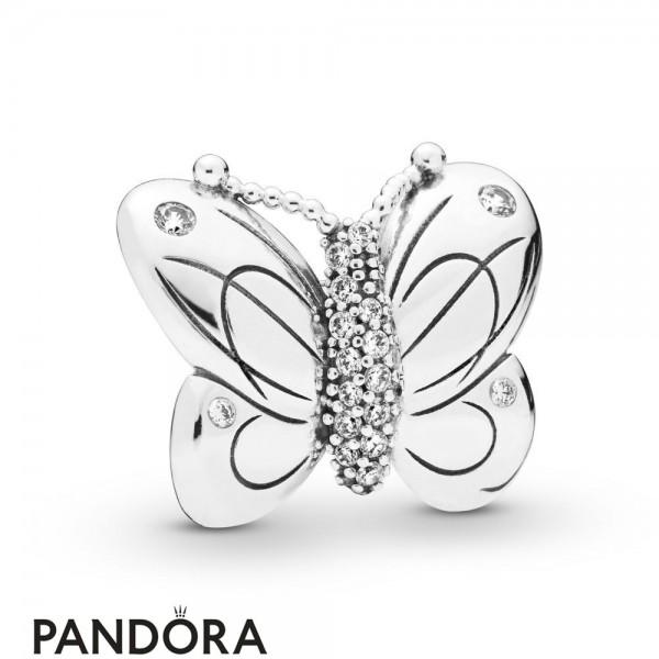 Women's Pandora Decorative Butterfly Charm Jewelry
