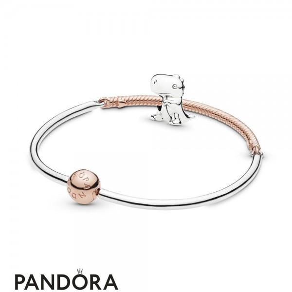Women's Pandora Dino The Dinosaur Bracelet Set Jewelry
