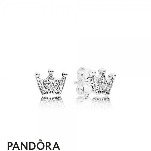 Women's Pandora Enchanted Crown Earring Studs Jewelry Jewelry