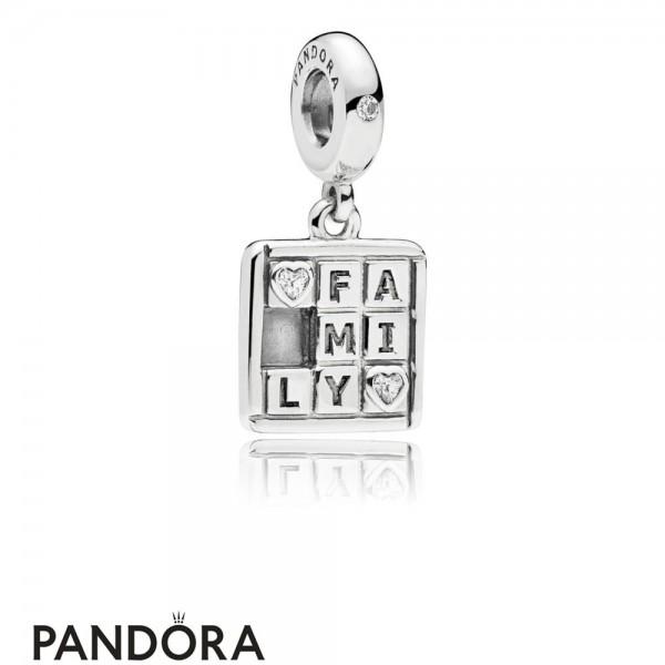Women's Pandora Family Game Hanging Charm Jewelry