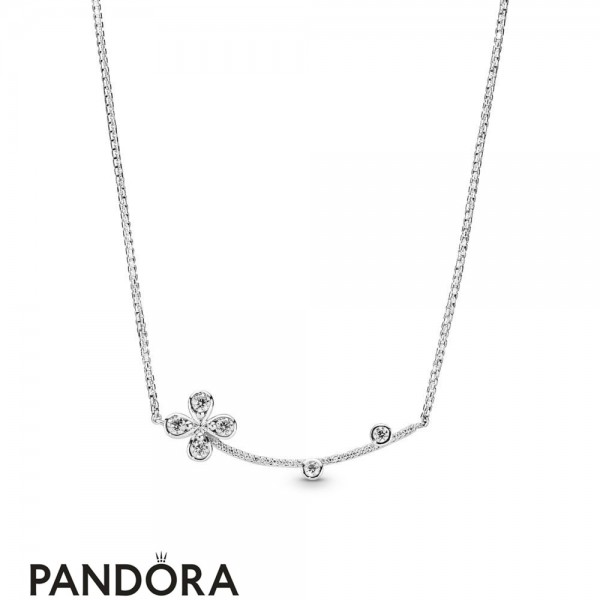 Women's Pandora Four Petal Flower Necklace Jewelry