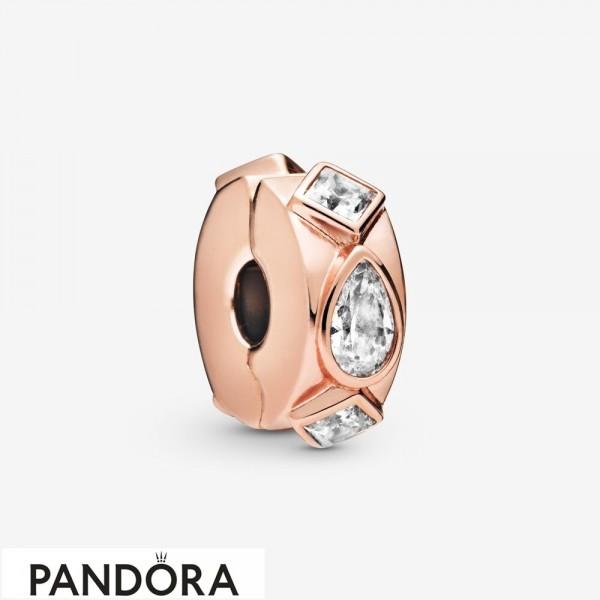 Women's Pandora Geometric Shapes Clip Charm Cz Jewelry
