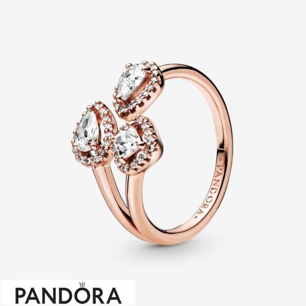 Women's Pandora Geometric Shapes Open Ring Jewelry