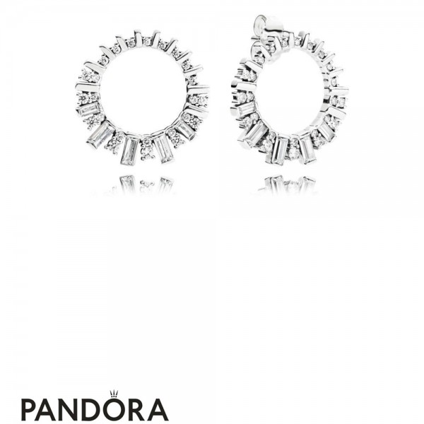 Women's Pandora Glacial Beauty Earrings In Silver Jewelry