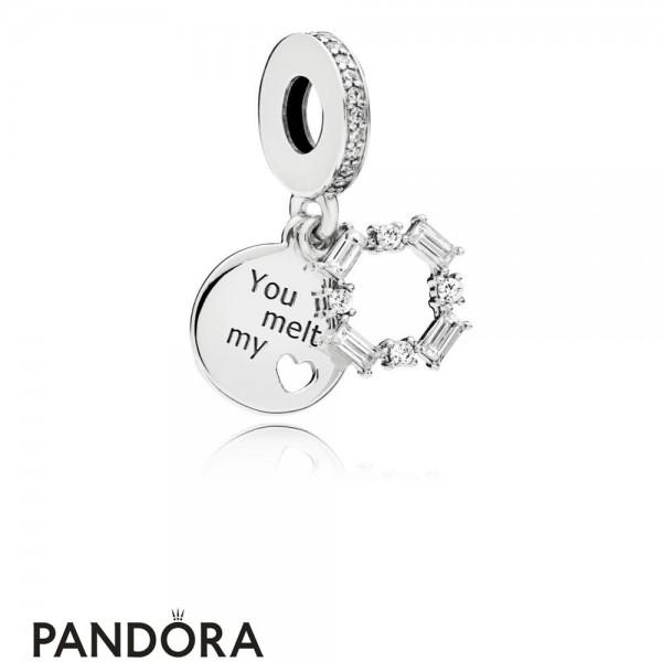 Women's Pandora Ice Carving Hanging Charm Jewelry