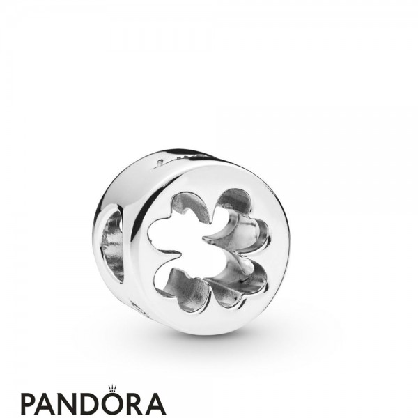 Women's Pandora Lucky Four Leaf Clover Cut Out Charm Jewelry