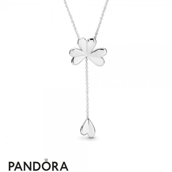 Women's Pandora Lucky Four Leaf Clover Necklace Jewelry