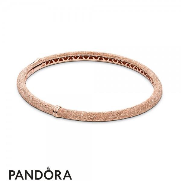 Women's Pandora Matte Brilliance Bangle Bracelet Pandora Rose Jewelry