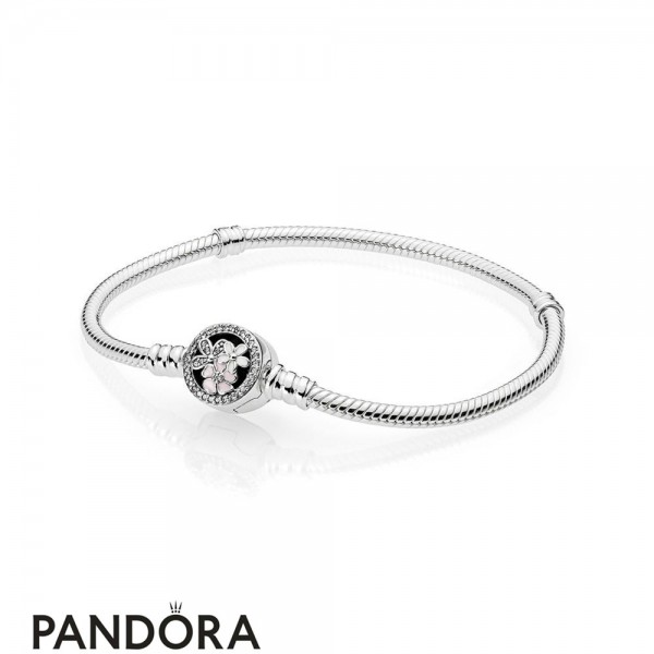 Pandora Moments Bracelet With Poetic Blooms Clasp Jewelry