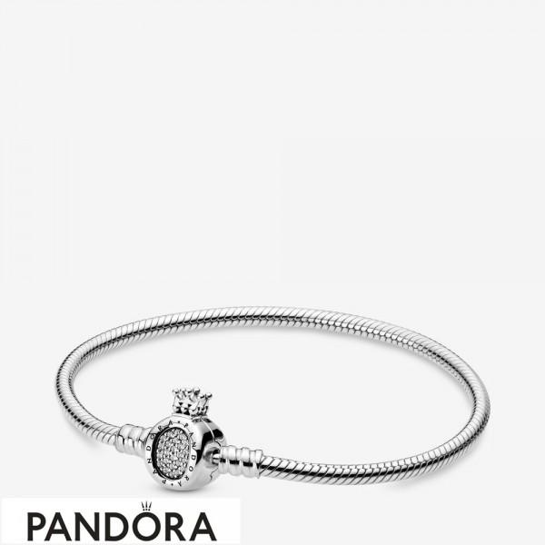 Pandora Moments Crown O & Snake Chain Bracelet Jewelry
