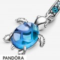 Women's Pandora Murano Glass Sea Turtle Dangle Charm Jewelry