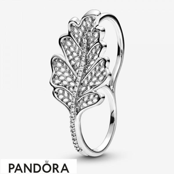 Women's Pandora Oak Leaf Double Ring Jewelry