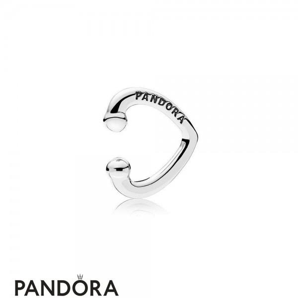 Women's Pandora Open Heart Ear Cuff Jewelry
