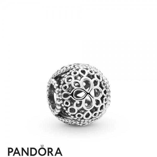 Women's Pandora Openwork Flower Charm Jewelry