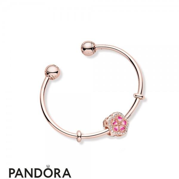 Women's Pandora Peach Full Of Flowers Bracelet Jewelry