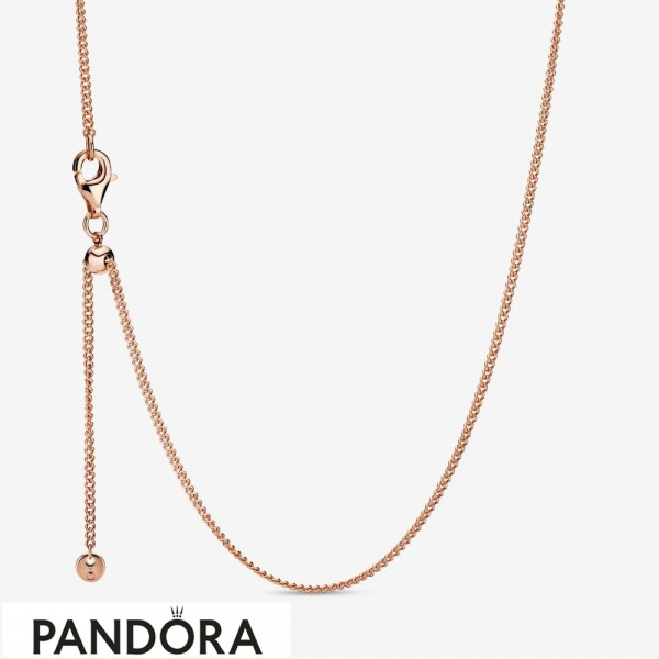 Pandora Rose Curb Chain Necklace Jewelry