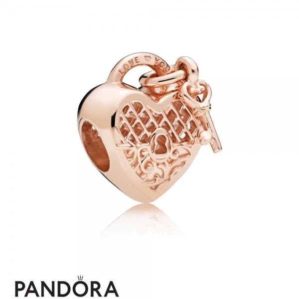 Pandora Rose Love You Lock Charm Jewelry
