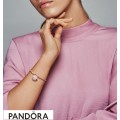 Pandora Rose Moments Smooth Bracelet With Pandora Signature Padlock Clasp Jewelry