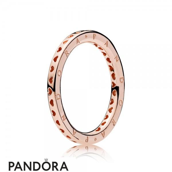 Pandora Rose Signature Hearts Of Pandora Ring Jewelry