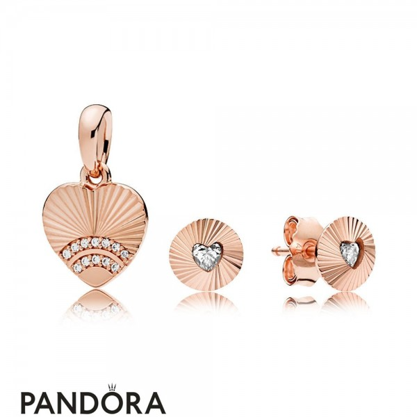 Pandora Rose Vintage Fans Set Jewelry