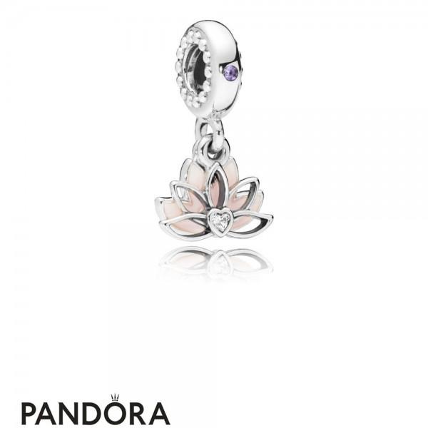 Women's Pandora Serene Lotus Flower Hanging Charm Jewelry