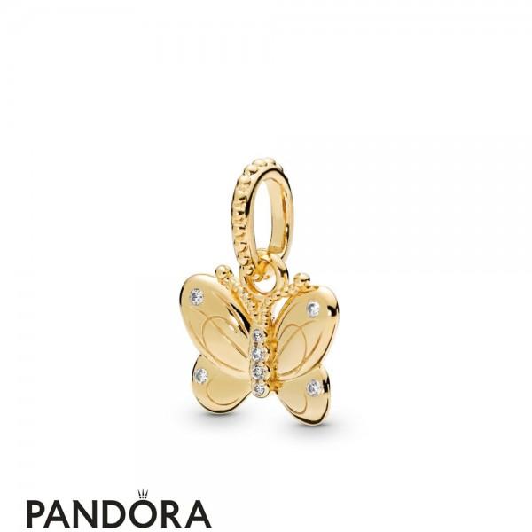 Pandora Shine Decorative Butterfly Necklace Pendant Jewelry