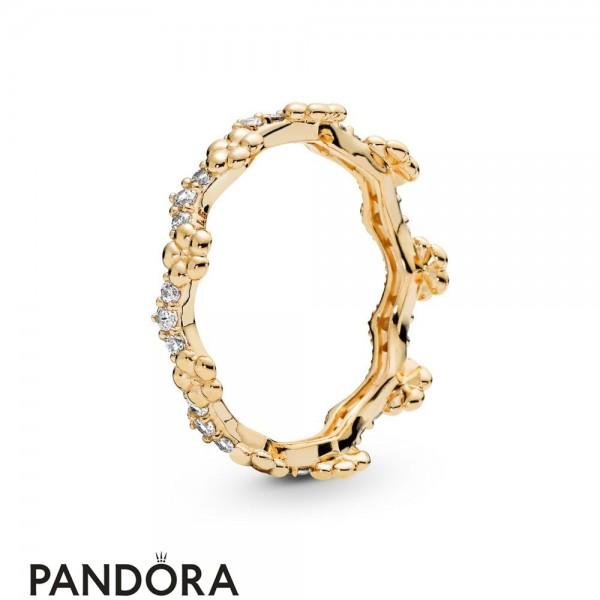 Pandora Shine Flower Crown Ring Jewelry