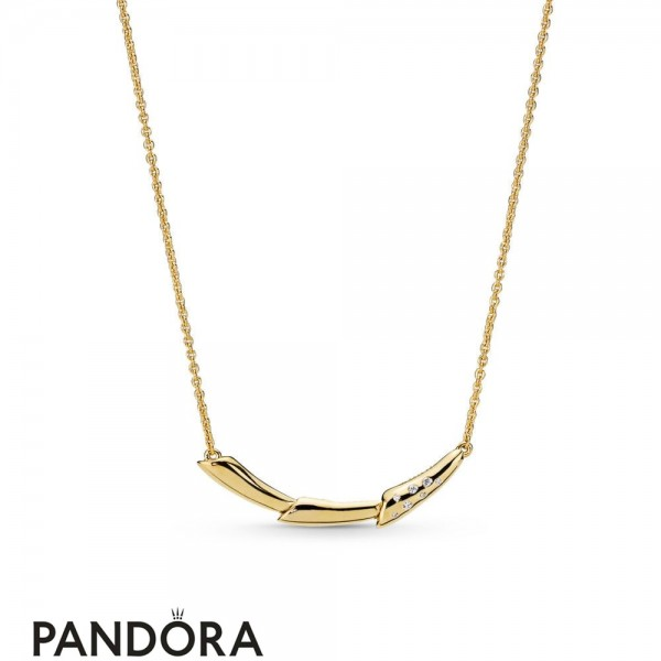 Pandora Shine Flower Stem Necklace Jewelry