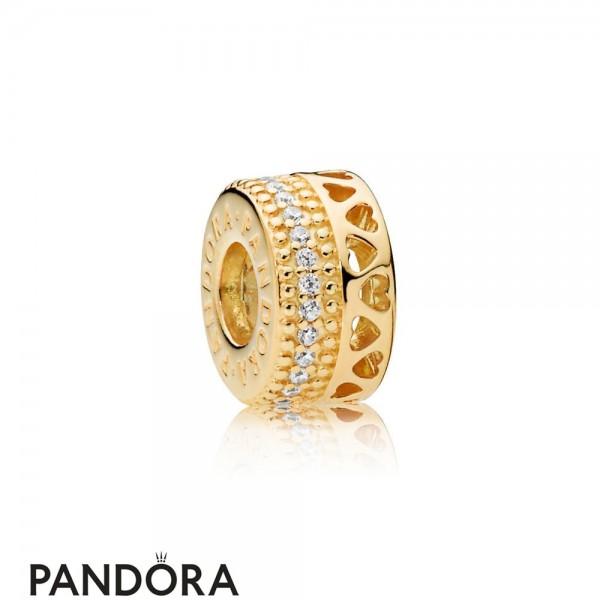 Pandora Shine Hearts Of Pandora Spacer Charm Jewelry