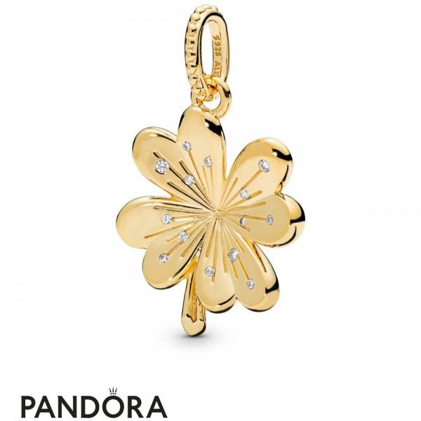 Pandora Shine Lucky Four Leaf Clover Hanging Charm Jewelry
