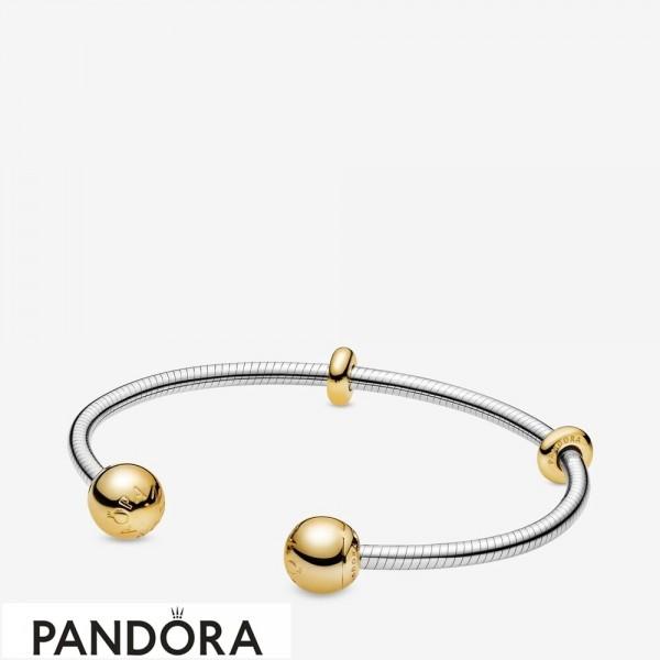 Pandora Shine Moments Snake Chain Style Open Bracelet Jewelry