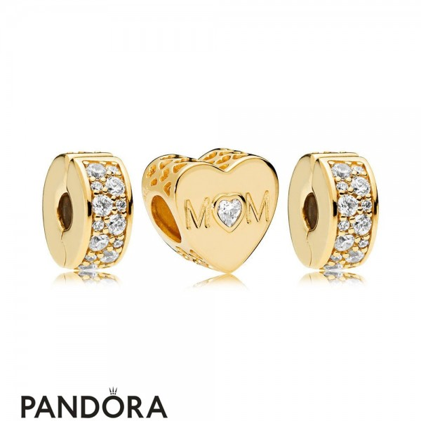 Pandora Shine Mother Heart Charm Pack Jewelry
