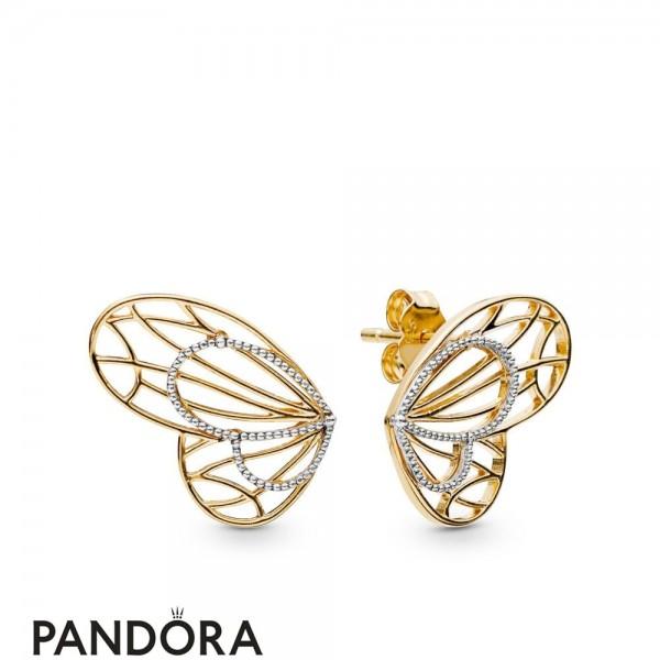 Pandora Shine Openwork Butterflies Earring Studs Jewelry