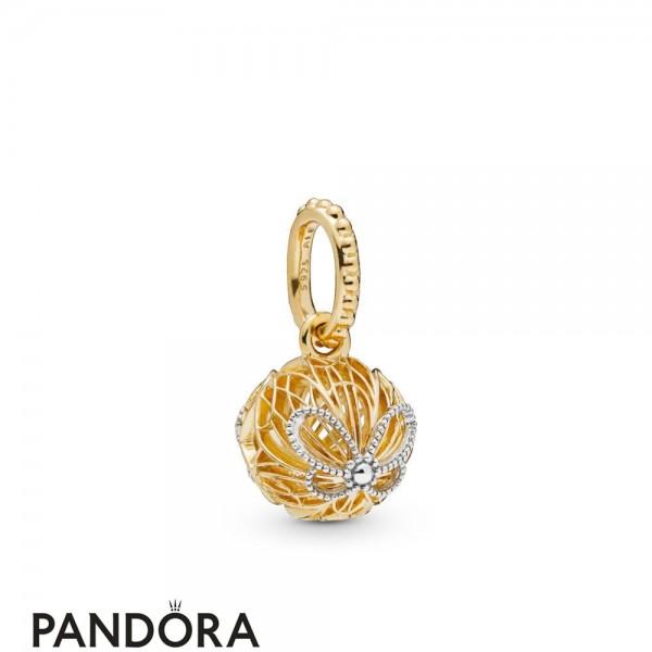 Pandora Shine Openwork Butterflies Necklace Pendant Jewelry