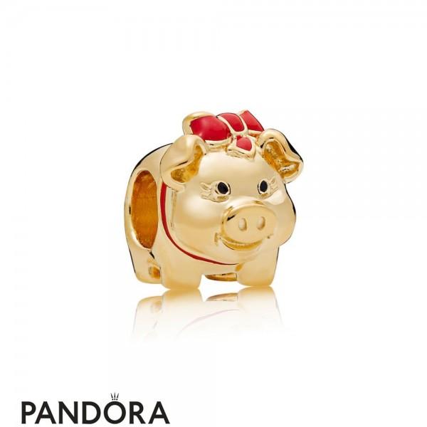 Women's Pandora Shine Piggy Bank Charm Jewelry