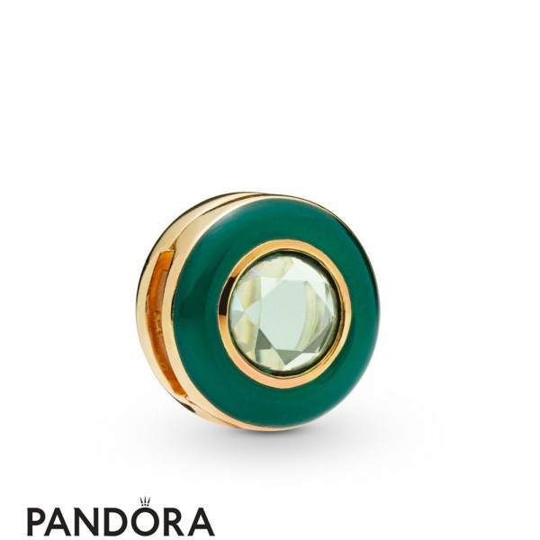 Pandora Shine Reflexions Green Circle Clip Charm Jewelry