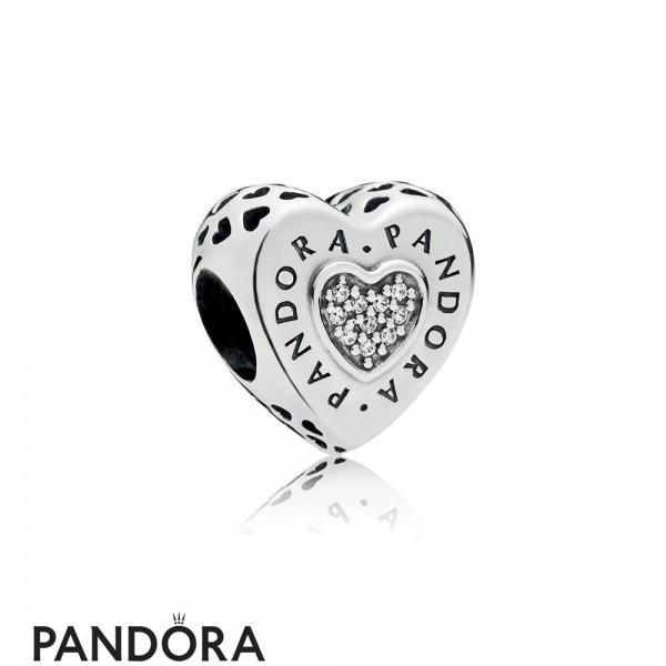 Pandora Signature Heart Charm Jewelry