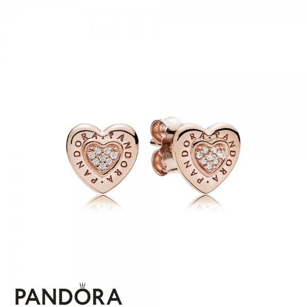 Pandora Signature Heart Stud Earrings Pandora Rose Jewelry