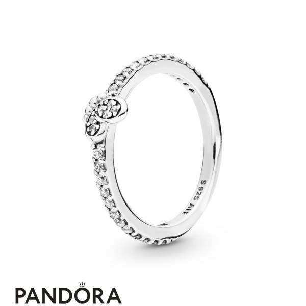 Women's Pandora Silver Bedazzling Butterfly Ring Jewelry