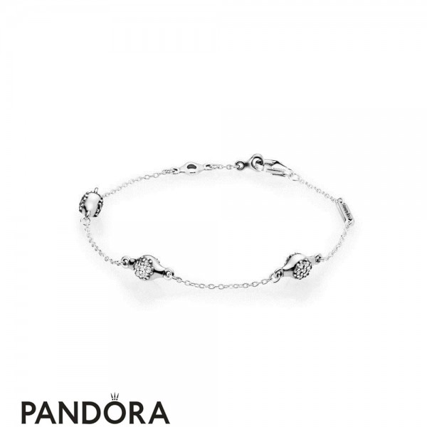 Women's Pandora Silver Modern Lovepods Bracelet Jewelry