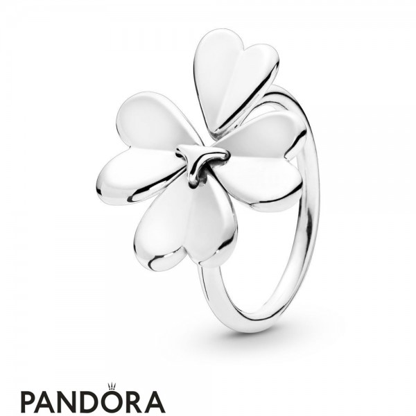 Women's Pandora Silver Moving Clover Ring Jewelry